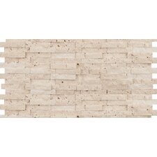 "Hamlet 6"" x 12"" Antique Tumbled Travertine Mosaic in Ivory"
