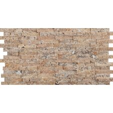 "Hamlet 6"" x 12"" Antique Tumbled Travertine Mosaic in Scabos"