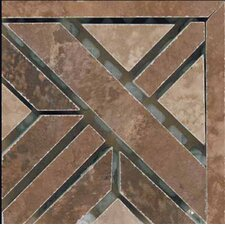 "Madrid 4"" x 4"" Glazed Porcelain Corner Listello in Multicolor"