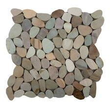 Venetian Random Sized Flat Pebble in Pastel