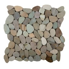 Venetian Random Sized Pebble Mosaic in Pastel