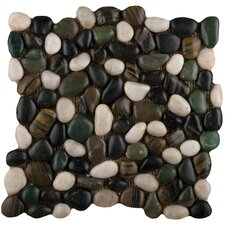 "Rivera 12"" x 12"" Pebble Mosaic in Spring"