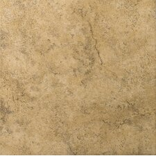 "Toledo 17"" x 17"" Glazed Ceramic Tile in Bruno"