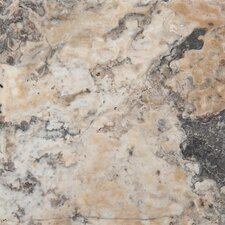 "Trav Chiseled 16"" x 16"" Chiseled Travertine Tile in Multicolor"