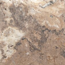 "Trav Chiseled 8"" x 8"" Chiseled Travertine Tile in Multicolor"