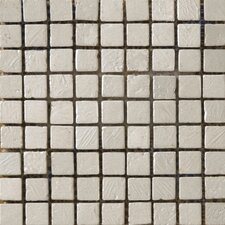 "Treasure 12"" x 12"" Metal Coated Travertine Mosaic in Prize"