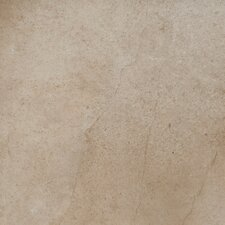 "St. Moritz 18"" x 18"" Glazed Porcelain Tile in Cotton"