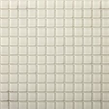 Lucente Glossy Mosaic in Blanc