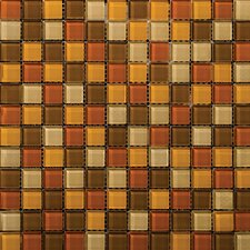 "<strong>Emser Tile</strong> Lucente 12"" x 12"" Glossy Mosaic Blend in Harvest Aglow"