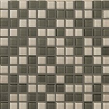 Lucente Glossy Mosaic Blend in Pewter Fog