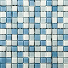 Lucente Glossy Mosaic Blend in Ocean Mist / Crystal