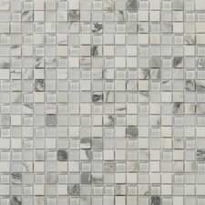 "<strong>Emser Tile</strong> Lucente 12"" x 12"" Stone and Glass Mosaic Blend in Ambrato"