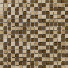 "<strong>Emser Tile</strong> Lucente 12"" x 12"" Stone and Glass Mosaic Blend in Tromba"