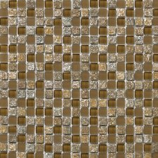 "<strong>Emser Tile</strong> Lucente 12"" x 12"" Stone and Glass Mosaic Blend in Venezia"