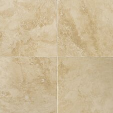 "Natural Stone 12"" x 12"" Crosscut Travertine Tile in Umbria Savera"
