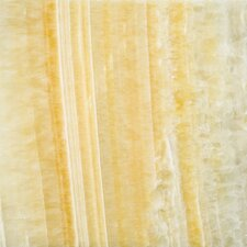 "Natural Stone 12"" x 12"" Onyx Tile in Golden Honey"