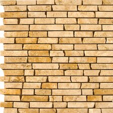 "<strong>Emser Tile</strong> Natural Stone 12"" x 12"" Travertine Brick-Joint Mosaic in Oro"