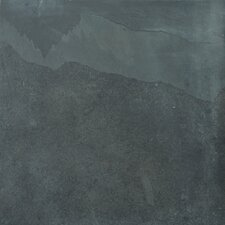 "Natural Stone 16"" x 16"" Calibrated Slate Tile in Brazilian Black"