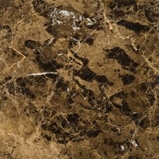 "Natural Stone 18"" x 18"" Marble Tile in Marrone Emperador Dark"