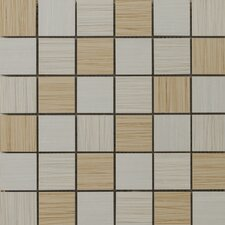 "Strands 12"" x 12"" Blend Mosaic Tile in Light"