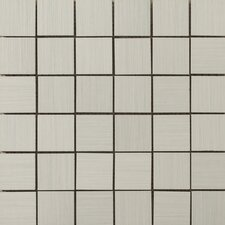 "Strands 12"" x 12"" Mosaic Tile in Pearl"