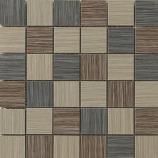 Strands Blend Mosaic Tile in Dark