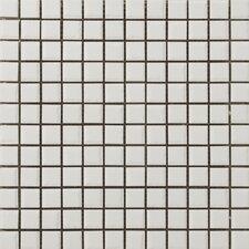 """Classica 1"""" x 1"""" Mosaic in White"""