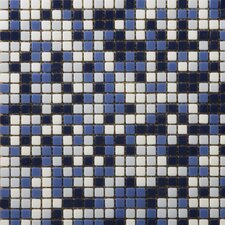 """Image 1/2"""" x 1/2"""" Glossy Glass Mosaic in Semblance Blend"""