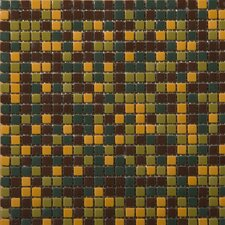 """Image 1/2"""" x 1/2"""" Glossy Glass Mosaic in View Blend"""