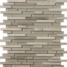 Lucente Random Sized Glass Mosaic in Certos Linear