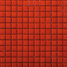 "Lucente 12"" x 12"" Glass Mosaic in Ruby"