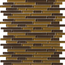 "Lucente 13"" x 13"" Glossy Glass Mosaic in Torcello Linear"