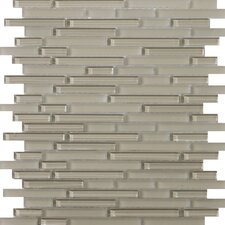 Lucente Random Sized Glass Glossy Mosaic in Morning Linear