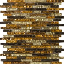 "<strong>Emser Tile</strong> Vista 13"" x 13"" Glass Mosaic in Caldo Linear Blend"