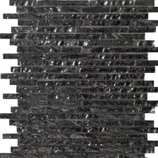 "<strong>Emser Tile</strong> Vista 12"" x 12"" Glass Mosaic in Seguso Linear"