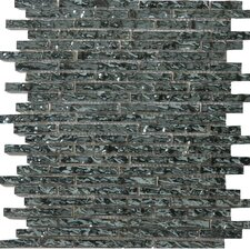 "<strong>Emser Tile</strong> Vista 13"" x 13"" Glass Mosaic in Celotto Linear"