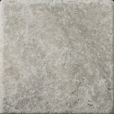 "<strong>Emser Tile</strong> Natural Stone 6"" x 6"" Tumbled Travertine Tile in Silver"