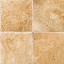 "Natural Stone 8"" x 8"" Chiseled Travertine Field Tile in Umbia Savera"