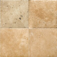 "Natural Stone 8"" x 8"" Chiseled Travertine Field Tile in Umbia Bruno"