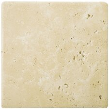 "<strong>Emser Tile</strong> Natural Stone 16"" x 16"" Tumbled Travertine Tile in Ancient Beige"