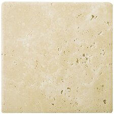 """Natural Stone 24"""" x 24"""" Tumbled Travertine Tile in Ancient Beige"""