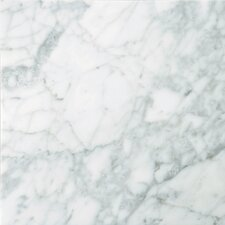 "Natural Stone 18"" x 18"" Polished Marble Field Tile in Bianco Gioia"