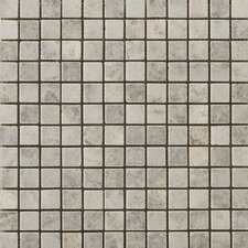 "Natural Stone 1"" x 1"" Travertine Unpolished Mosaic in Silver"
