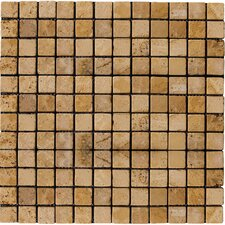 "Natural Stone 1"" x 1"" Travertine Mosaic in Oro"