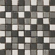 Treasure Metal Coated Travertine Mosaic Blend in Reward