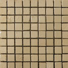 "<strong>Emser Tile</strong> Treasure 12"" x 12"" Metal Coated Travertine Mosaic in Chest"