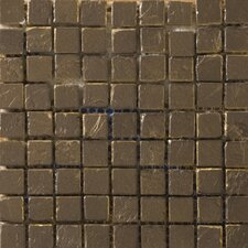"<strong>Emser Tile</strong> Treasure 12"" x 12"" Metal Coated Travertine Mosaic in Fortune"