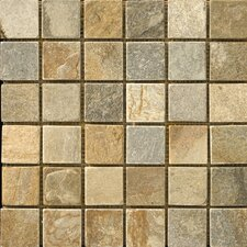 "Natural Stone 12"" x 12"" Slate Mosaic in Golden Sand"