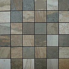 "<strong>Emser Tile</strong> Del Mar 13"" x 13"" Glazed Ceramic Mosaic Blend in Multicolor"