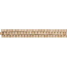"<strong>Emser Tile</strong> Natural Stone 12"" x 2"" 3D Travertine Listello in Beige"